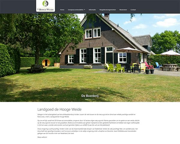 Nieuwe website Landgoed de Hooge Weide